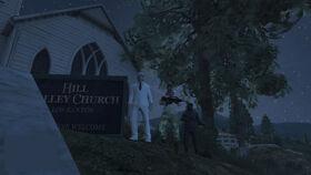 El Caudillo Visiting A Church
