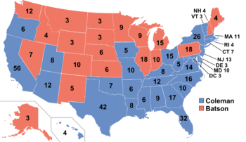 United States Presidential Election Casting Shadows - Image of us map at 2040