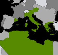 Map of the Nuovo Impero Romano