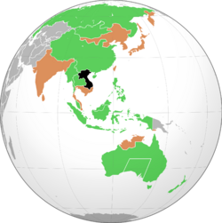 Indochinese DR trade balance map