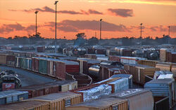 Boxcars in the Inland Empire