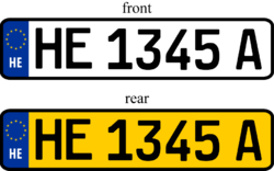 Heigard Vehicle Registration Plates