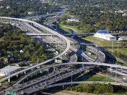 E45 and E10 Interchange in Houston