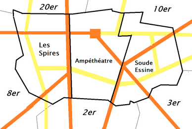 Suburbs of Les Spires