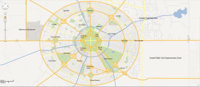 Grand Flatts City Named Map