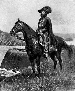 Juan Bautista de Anza (horseback)