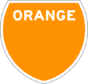 Orange Route Marker