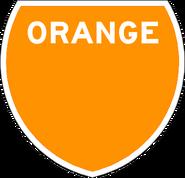 Orange Route Marker