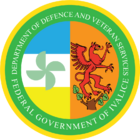 Seal of the Ivalician Department of Defence and Veteran Services