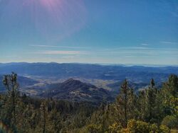 Calistoga from Mount Saint Helena