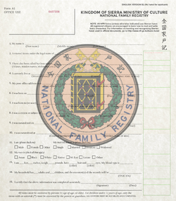National Family Registry form (WIP)