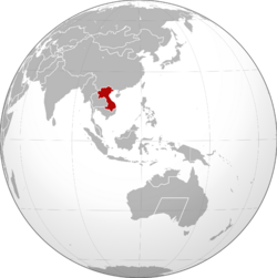 Indochinese DR locator map