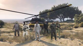 El Caudillo, General Astonviggo and some soldiers at the Zancudo Bunker