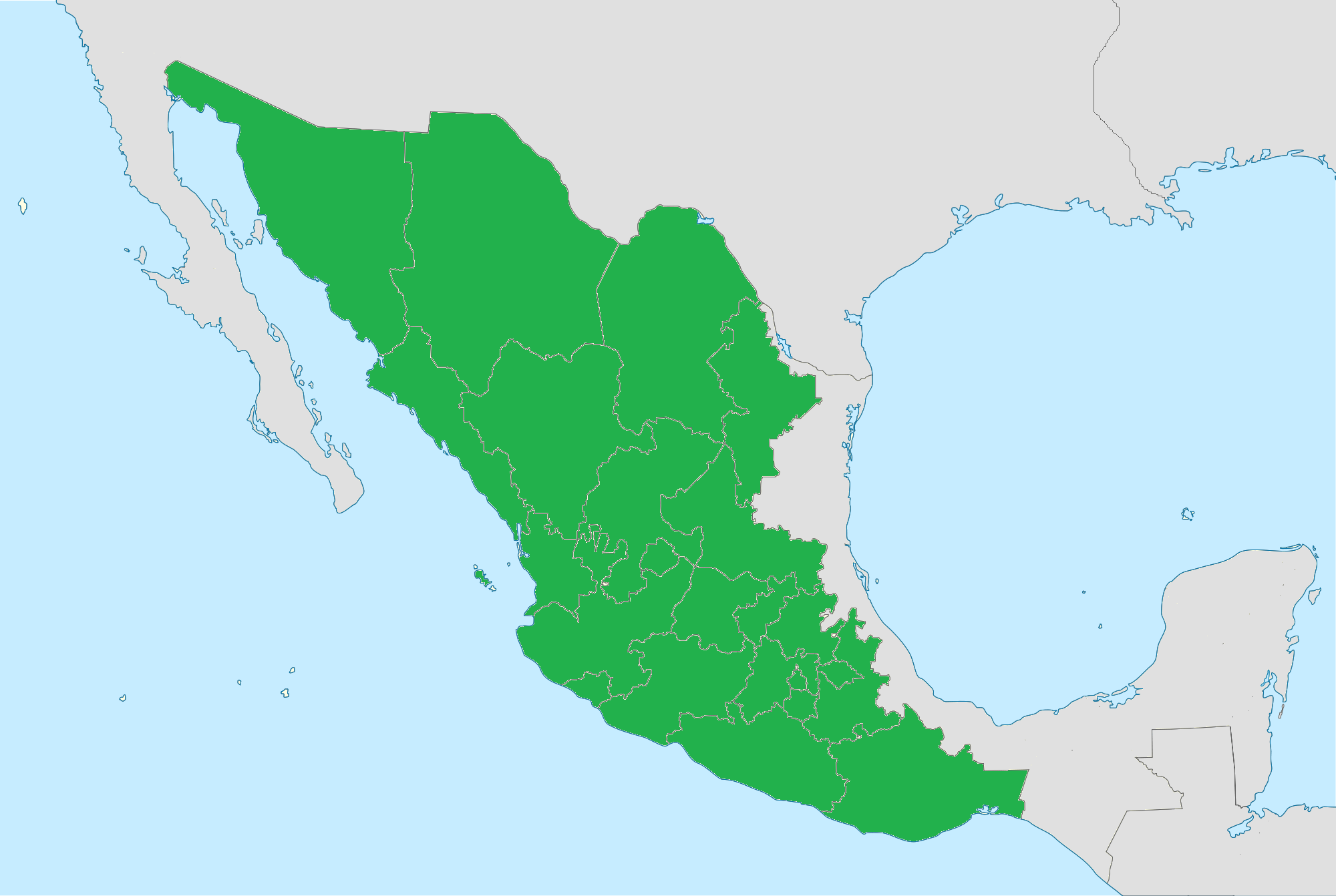 Image  Mexico states blank mappng  Constructed Worlds Wiki
