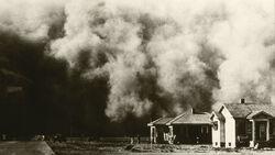 Dust Bowl dust storm, 1935