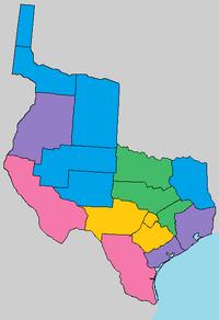 Linguistic map of Brazoria
