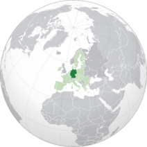 EU-Germany (orthographic projection)