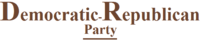Logo of the Democratic Republican Party