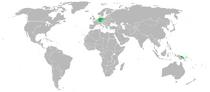 Location of the German Confederation
