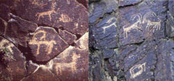 Cave paintings in Kaishuri
