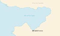 Map of the Bay of New Spain