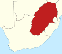 Location of Orange Transvaal