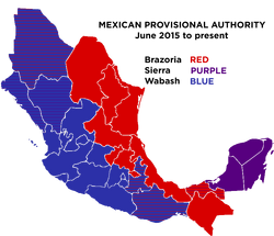 Mexican Provisional Authority Map