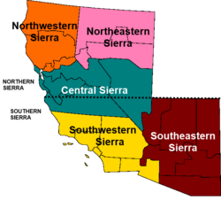 Map of Sierra (Geographic regions)