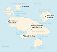 Map of the Spanish Islands