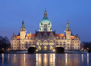 Neues Rathaus Hannover - seat of the Hannover city council and the Council of States