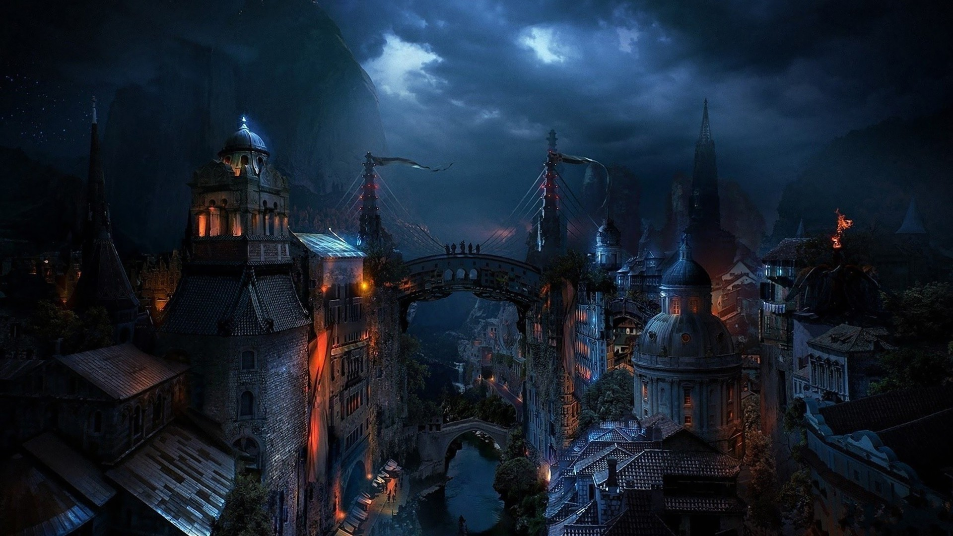 image - dark-medieval-city-fantasy-hd-wallpaper-1920x1080-2069