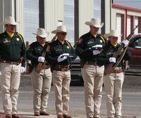 Brazorian National Policemen in ceremonial uniform