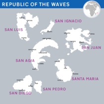 Waves map cities