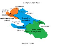 Kerguelen political map