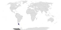 Locator map of Patagonia