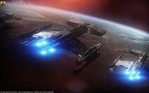 Starcraft terran battlecruisers by euderion dbibpwq-fullview