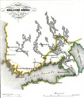 Карта Шведской войны