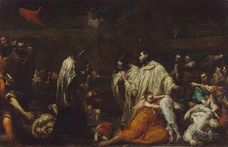 1280px-Giuseppe Maria Crespi (Italian (Bolognese) - Bernard Tolomei and the Plague in Siena - Google Art Project