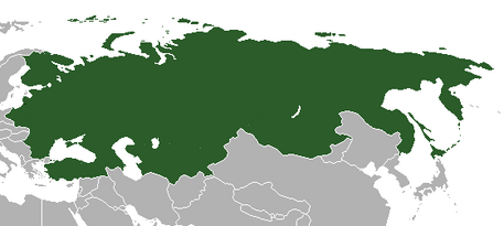 Карта Российской Империи Рюриковичей