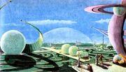 Советский город будущего из 1950-х