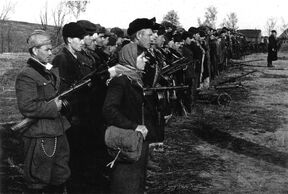 Солдаты РПА на присяге