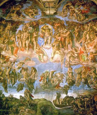 Michelangelo - Fresco of the Last Judgement