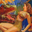 T-rex & Jungle Girl