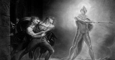 Гамлет видит тень своего отца