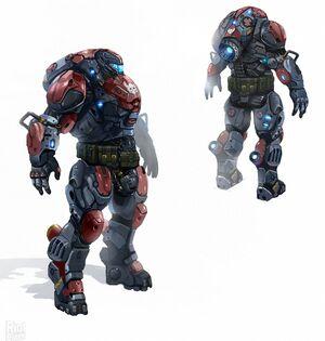 Black legion armor concept art