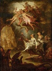 Antoine Francois Saint-Aubert - The Arrival at The Sabbath and the Homage to The Devil