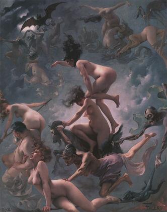 Witches going to their Sabbath (1878), by Luis Ricardo Falero