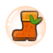 Orange Cookie Rain Boot