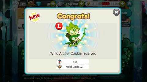 Wind Archer Cookie Get! First Try Reaction!