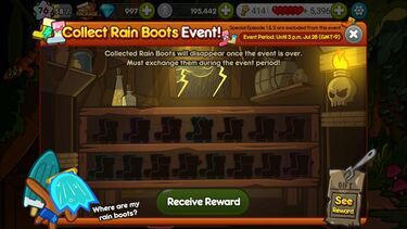 Rain Boots event page